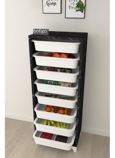 Bofigo Bofigo 8 Sepetli Mutfak Dolabı Çok Amaçlı Dolap Sebzelik Renkli